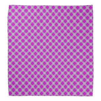 紫色クローバーのリボン バンダナ