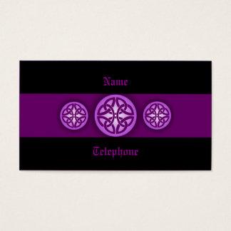 紫色ケルト族のプロフィールカード-および黒4 名刺