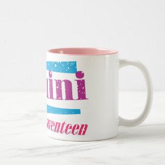 紫色ジェミニ ツートーンマグカップ