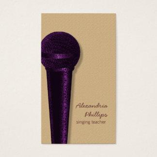 紫色ダマスク織のマイクロフォンの名刺 名刺