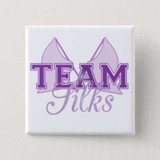 紫色チーム絹 5.1CM 正方形バッジ