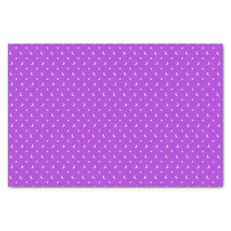 紫色パターンのかわいい星そして月 薄葉紙