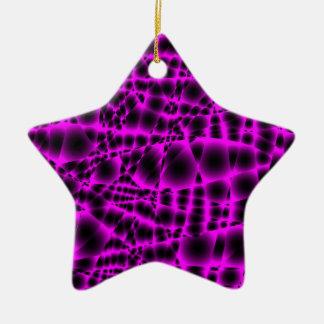 紫色パターン セラミックオーナメント