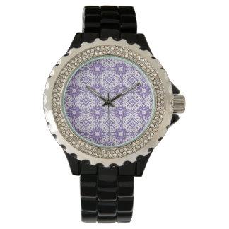 紫色パターン 腕時計