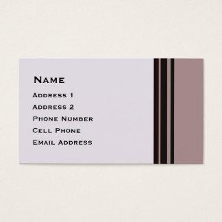 紫色ビジネスの黒いストライブ柄 名刺