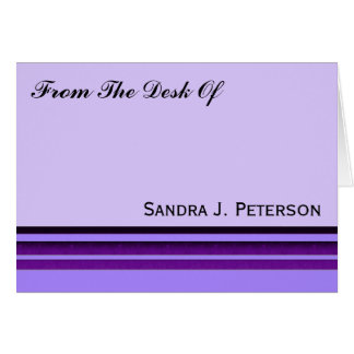 紫色ビジネスストライプ ノートカード