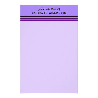紫色ビジネスストライプ 便箋