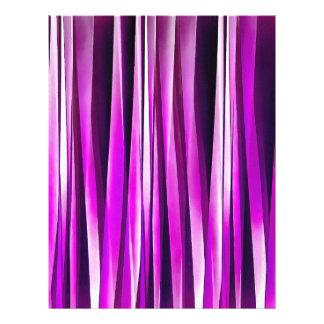 紫色プラムおよびおよびバーガンディのStripyラインパターン レターヘッド