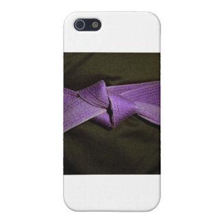 紫色ベルト iPhone 5 カバー