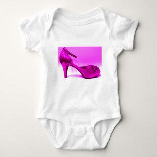 紫色ポンプによって発破を掛けられる抽象的なアートワーク ベビーボディスーツ