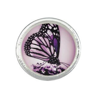 紫色マダラチョウ 指輪