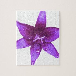 紫色ユリ ジグソーパズル