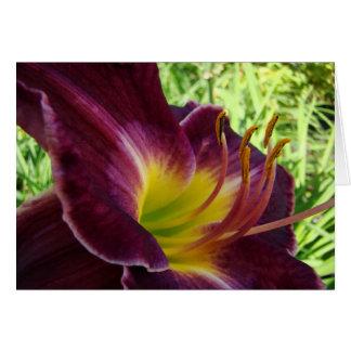 紫色ユリNotecard カード