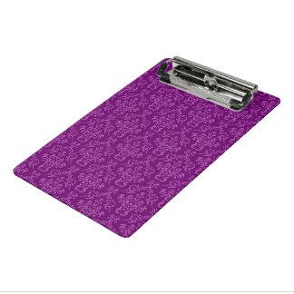 紫色ヴィンテージのダマスク織 ミニクリップボード