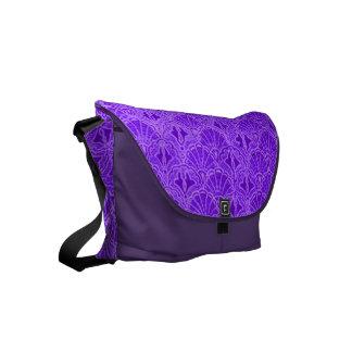 紫色ヴィンテージの貝殻 クーリエバッグ