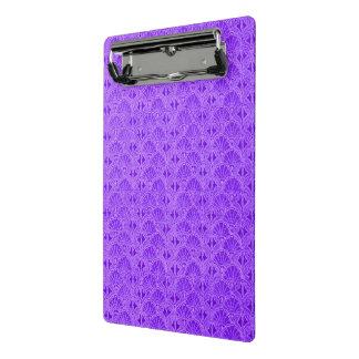 紫色ヴィンテージの貝殻 ミニクリップボード