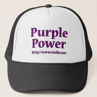 紫色力の帽子 キャップ