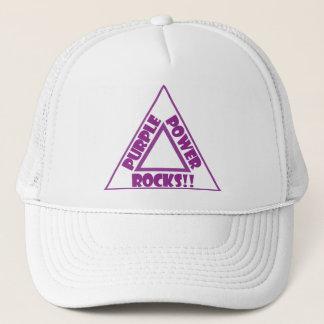 紫色力の石-帽子 キャップ