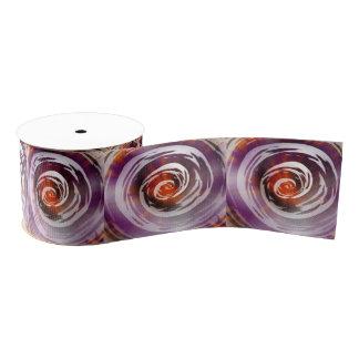 紫色及びオレンジ催眠性の渦巻の芸術 グログランリボン