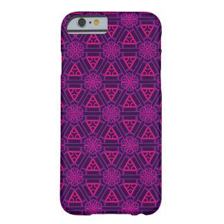 紫色及びピンクの斜め順序(張りつめたワッフル) BARELY THERE iPhone 6 ケース