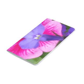 紫色及びピンクの花の小型ジャーナル ポケットジャーナル