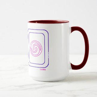 紫色及びマゼンタのバランスおよび振動マグ マグカップ