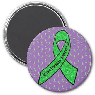 紫色及びライムグリーンのライム病の認識度の磁石 マグネット