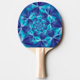 紫色及び水の螺線形のフラクタルの卓球ラケット 卓球ラケット