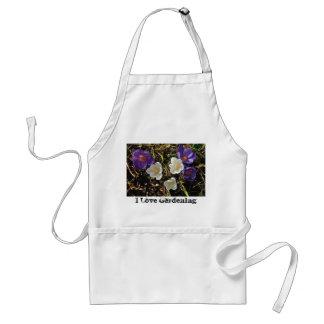 紫色及び白いクロッカスのエプロン スタンダードエプロン