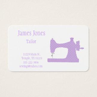 紫色及び白いミシンのテーラー名刺 名刺