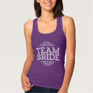 紫色及び白くかわいいチーム花嫁の結婚披露宴のギフト タンクトップ