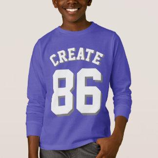 紫色及び白|のスポーツジャージーをからかいます Tシャツ
