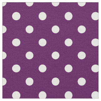 紫色及び白|の生地に点を打ちます ファブリック