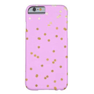 紫色及び金ゴールドの紙吹雪の点のモダンな魅力の魅力 BARELY THERE iPhone 6 ケース