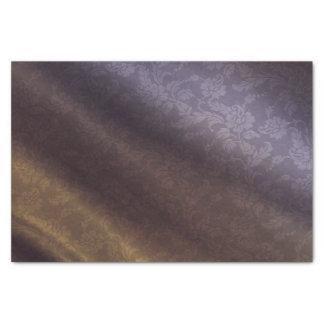 紫色及び金ゴールドの花10lbティッシュペーパー 薄葉紙