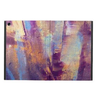 紫色及び金ゴールドは金属油絵を抽出します iPad AIRケース