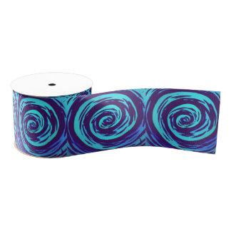 紫色及び青の催眠性の渦巻の芸術 グログランリボン