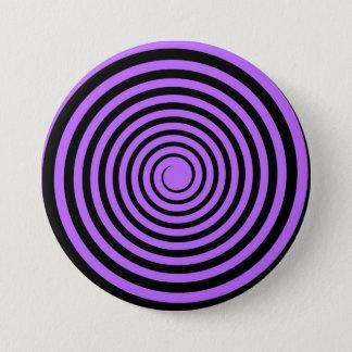 紫色及び黒い螺線形によってカスタマイズテンプレート 7.6CM 丸型バッジ