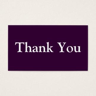 紫色名刺のテンプレートありがとう 名刺
