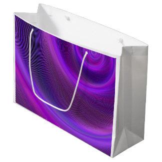 紫色夜嵐 ラージペーパーバッグ