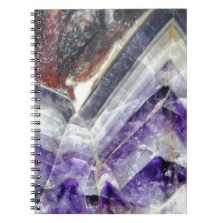 紫色山の水晶 ノートブック