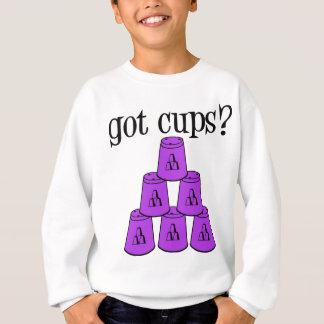 紫色得られたコップ スウェットシャツ