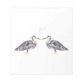紫色愛ハートのより大きい鷲 ノートパッド