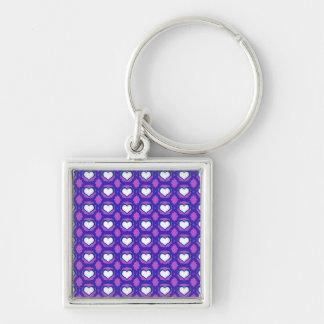 紫色愛ハートの予算Keychain キーホルダー
