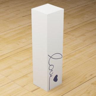 紫色愛ハート ワインギフトボックス