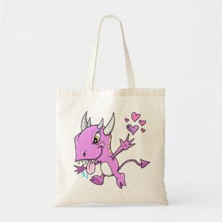 紫色愛モンスターのバッグ トートバッグ