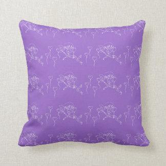 紫色愛気球の男の子の気球の破裂音のハート クッション