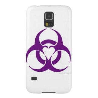 紫色愛生物学的災害[有害物質] GALAXY S5 ケース