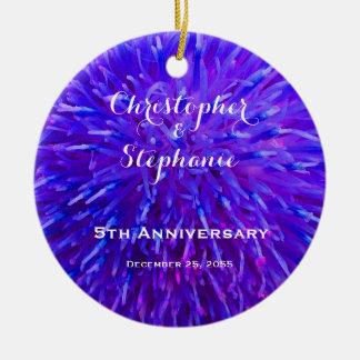 紫色抽象的な記念日のクリスマスのオーナメント セラミックオーナメント