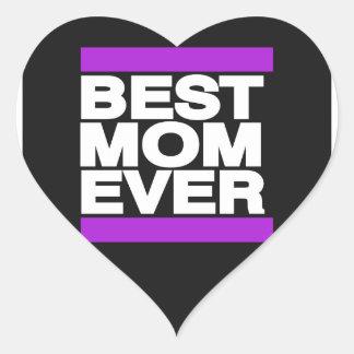 紫色最も最高のなお母さん ハートシール